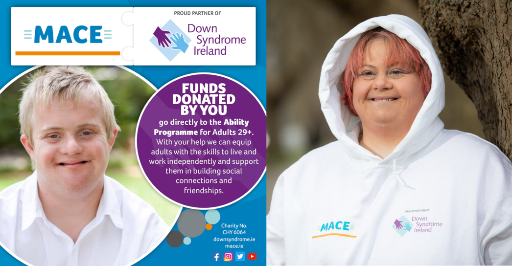MACE Renew Partnership with Down Syndrome Ireland for a further Two years