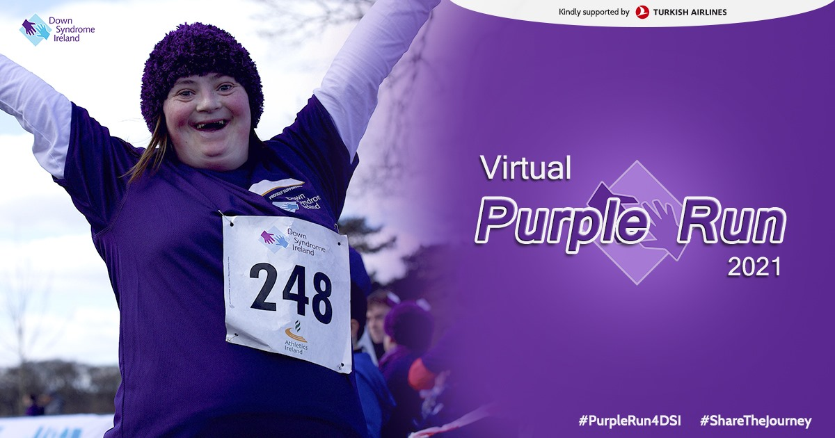 Purple Run 2021 goes Virtual for World Down Syndrome Day