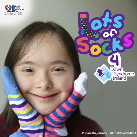 Celebrate World Down Syndrome Day on March 21st by rocking lots of socks