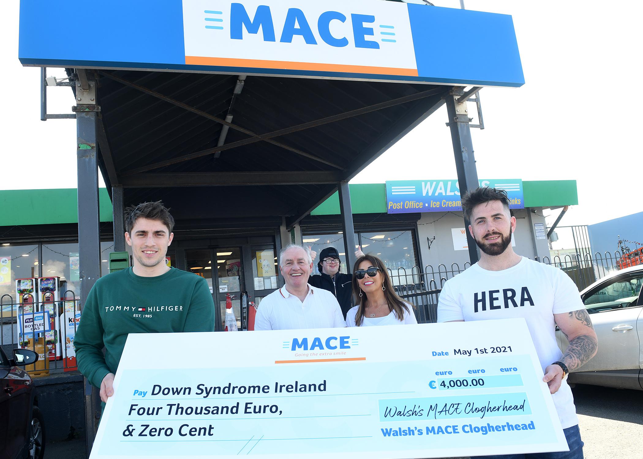 MACE Clogherhead Raise €4,000 for Down Syndrome Ireland